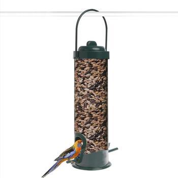 Wiszące plastikowe wiadro na zewnątrz karmnik dla ptaków karmnik z tworzywa sztucznego zielony akcesoria z tworzywa sztucznego podajnik na zewnątrz tanie i dobre opinie CN (pochodzenie) Ptaki
