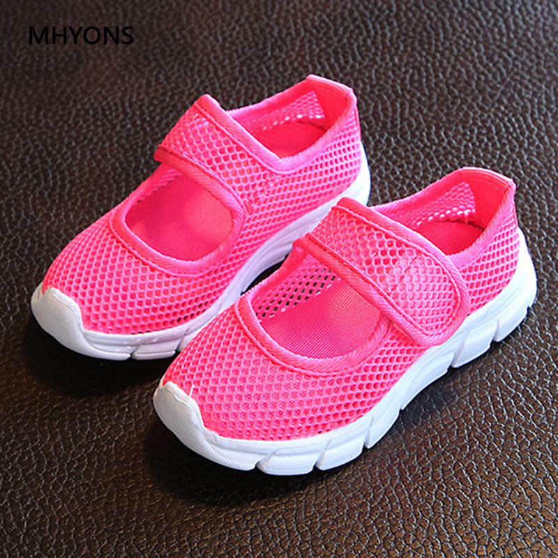 Candy Color Kids Shoes Summer Breathable Mesh Children Shoes Single Net Cloth Sports Sneakers Boys Shoes Girls Shoes A2104