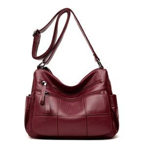 Image 3 - Hot Soft Leather Bolsa Luxury Ladies Hand Bags Female Crossbody Bags for Women Shoulder Messenger Bags Thread Sac A Main Femme