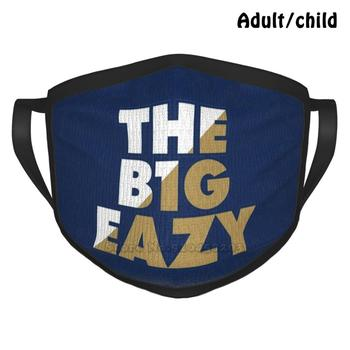 The B1g Eazy-Navy 1 Anti Dust Reusable DIY Face Mask Big Easy The Big Easy Big Eazy The Big Eazy Basketball Zion Zionola image
