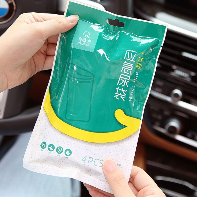 4Pcs 600CC Adult Kids Disposable Emergency Urinate Bags Vomit Car Mini Toilet Q0KD