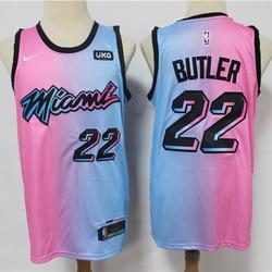 NEW 2021 NBA Men's Miami Heat #22 Butler Basketball Jersey City Edition Swingman Jersey Mesh Stitched Men Jerseys