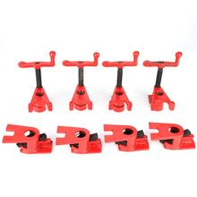 4 Set Woodworking Clamp Quick Release Heavy Duty Pipe Clamp Wide Base Iron Wood Metal Clamp Set for Woodworking Workbench