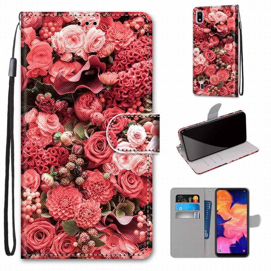 Para o caso huawei y6 2018 y7 2019 y9 prime 2019 flip leather book capa telefone caixa bonito tigre lobo leão gato cão torre dp08f