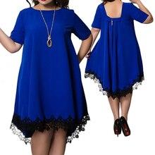 5XL 6Xl Plus Size Summer Dress Women Casual Summer Mini Backless Lace D