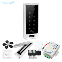 HOMSECUR Waterproof Anti-Vandal 13.56Mhz IC Metal Access Control System With Touch Keypad