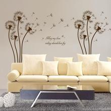 Removable Wall Sticker Dandelions Pattern Wall Sticker DIY Wall Decor Stickers for Living Room Decoration Stickers Home Decor removable diy tree and birdcage pattern wall sticker for living room decor