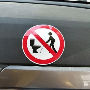 Image 5 - YJZT 11.5CM*11.5CM Warning NO Hit The Toilet Car Sticker PVC Decal 12 1469