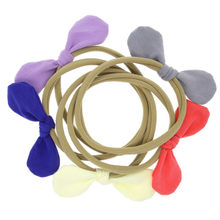 Fashion High Quality Baby Girl Rabbit Ears Elastic Hair Band Rope Ponytail Bracelets Scrunchie Wonderful Gift For Children(China)