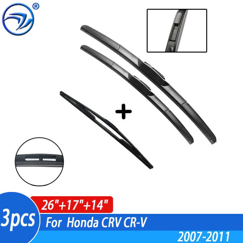 """Honda CRV 2007-2012 Ventana Limpiaparabrisas 26/"""" 16/"""" 14/"""" delantero y trasero"""