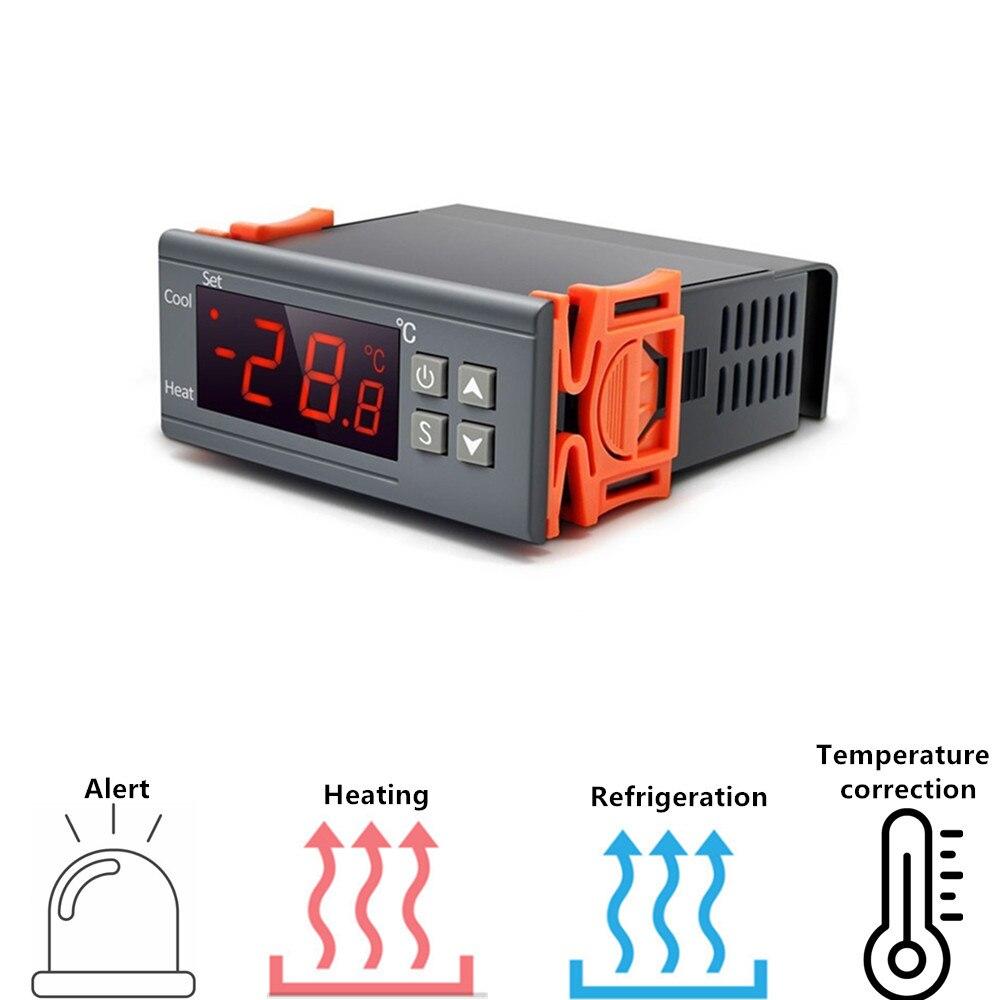 Цифровой термостат STC-1000, терморегулятор для инкубатора с нагревателем и охладителем 12 В 24 В 220 В