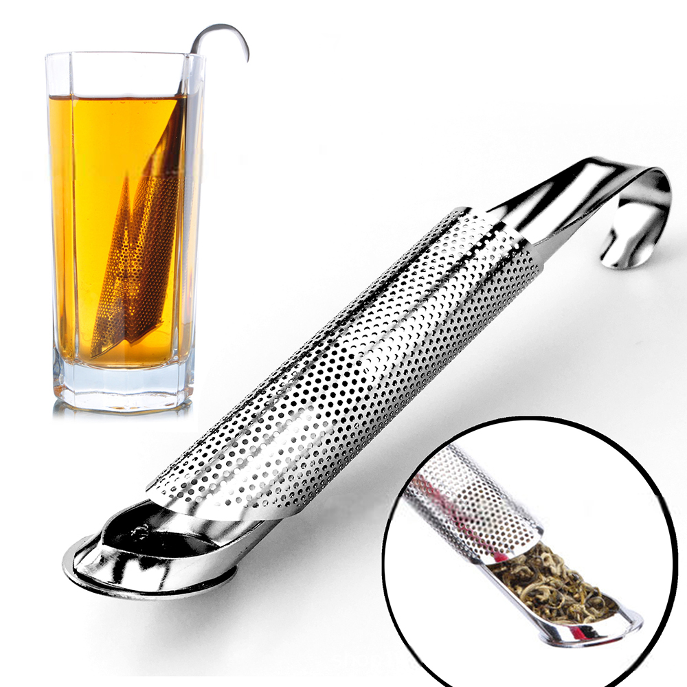 Kitchen Accessories New Tea Strainer Amazing Stainless Steel Infuser Pipe Design Touch Feel Holder Tool Tea Spoon Infuser Filter