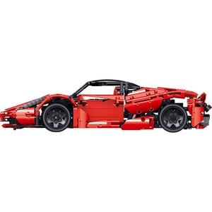 Image 2 - Şehir Racers Enzo süper yarış ölçekli spor araç seti teknik hızlı araçlar yapı taşları tuğla çocuk oyuncakları noel hediyeleri