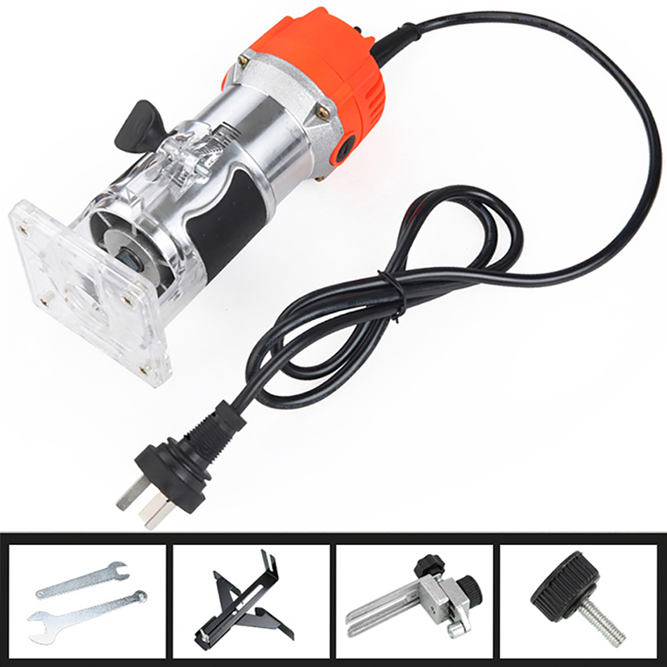 650W 30000rpm Woodworking Electric Trimmer Wood Milling Engraving Slotting Woodworking Trimming Machine Hand Carving Machine