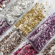 Pierres de verre cassé, résine UV époxy colorée, remplissage, artisanat de bricolage, Nail Art, décoration, bijoux, fabrication de moules, remplissage