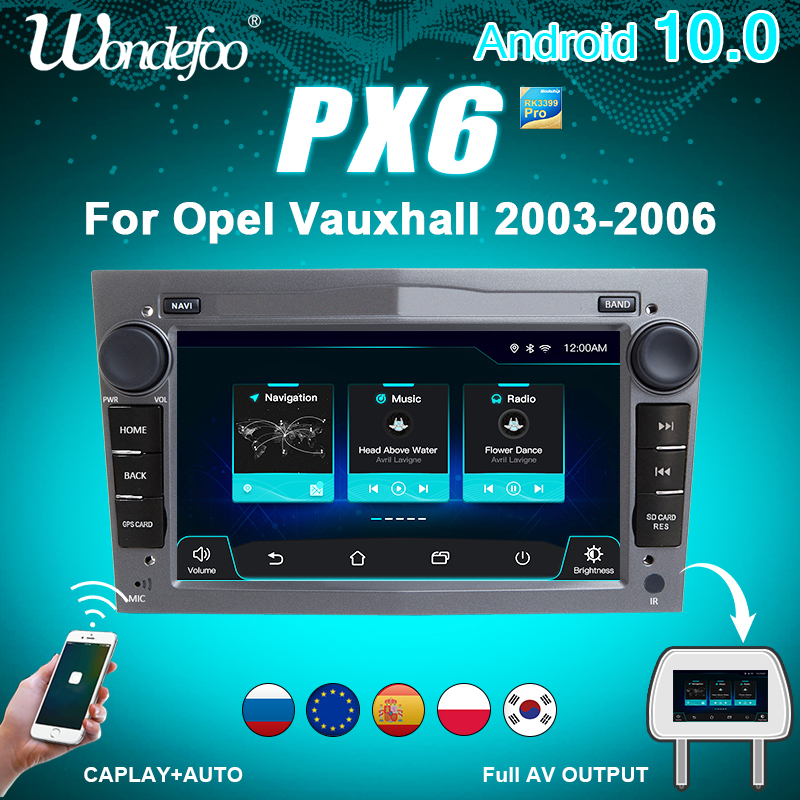 магнитола 2 din андроид Автомагнитола 2DIN Android 10 PX6 для opel Vauxhall Astra H G J Vectra Antara Zafira Corsa Vivaro Meriva Veda Combo Автомагнитолы Авто Аудио