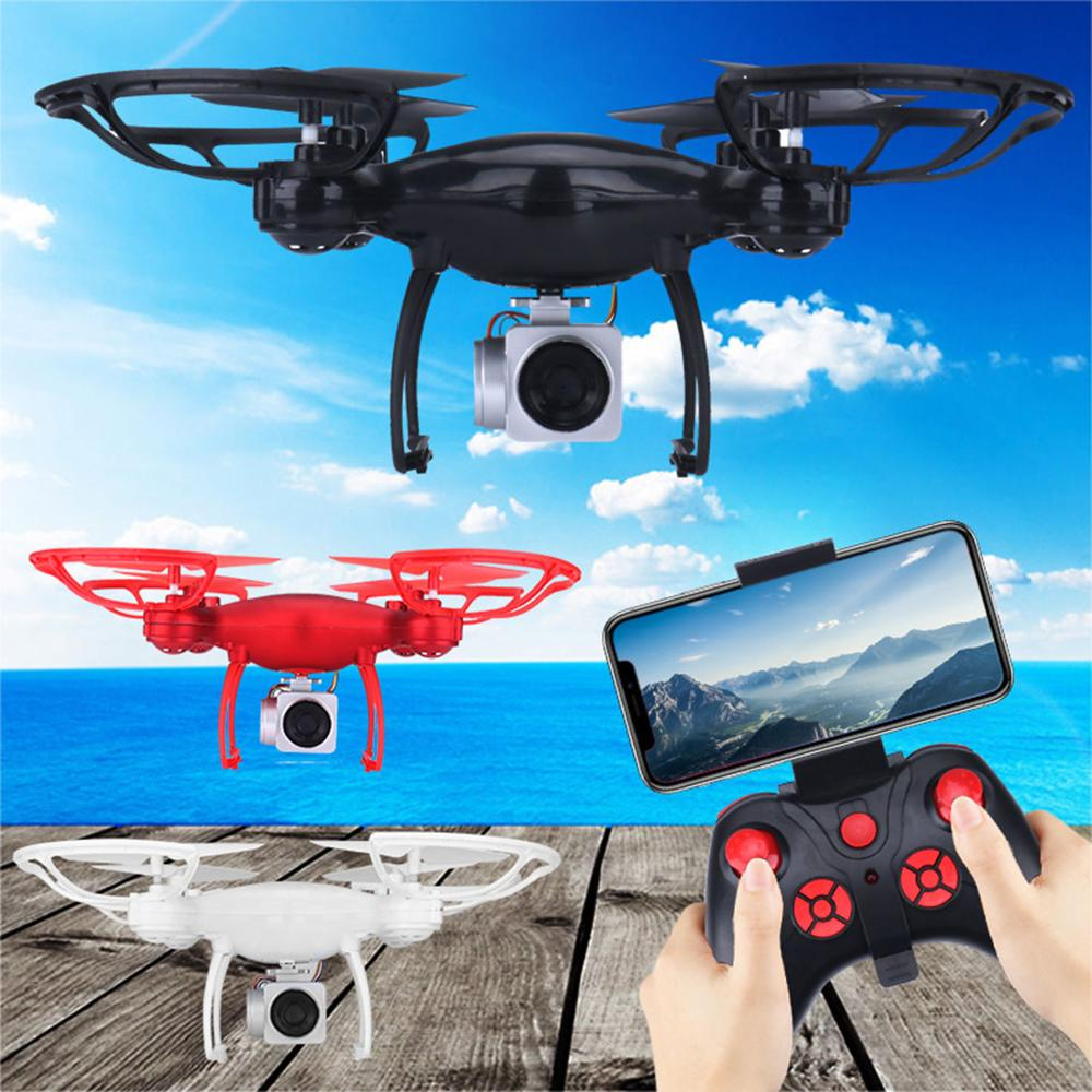 1080P HD Camera Drone FPV WIFI Real-time Transmission RC Quadcopter 3 Modes Speed One-key Return Altitude Hold 4-axis Dron Gift