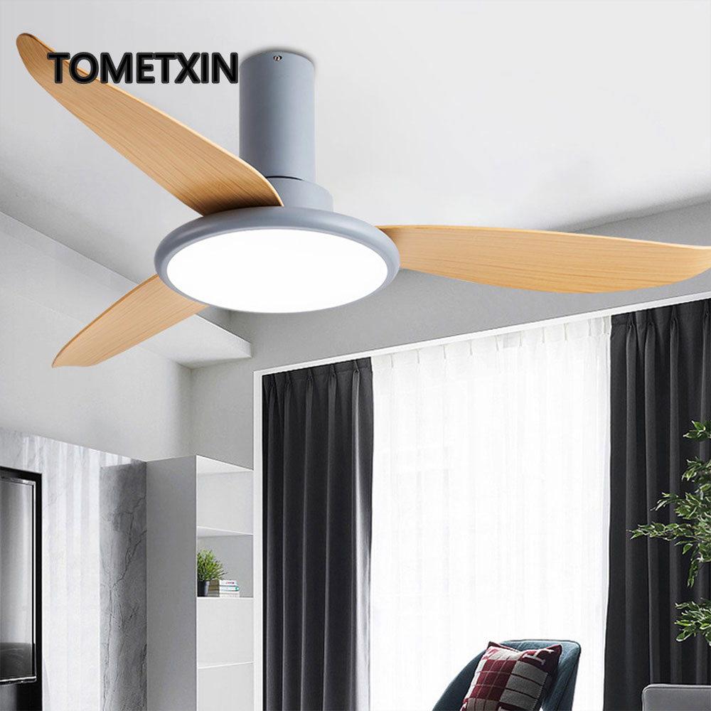 Faithful Ceiling Fan With Light And Remote Fans For Home Short Thin Led Lamp Dc Frequence Motor Fashion Living Room Bedroom For Sale