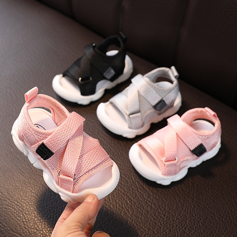 Summer New Baby Sandal Bag Head Anti Kicking Soft Lightweight Closed-Toe Outdoor Kids Toddler Sandasl For Baby Shoes