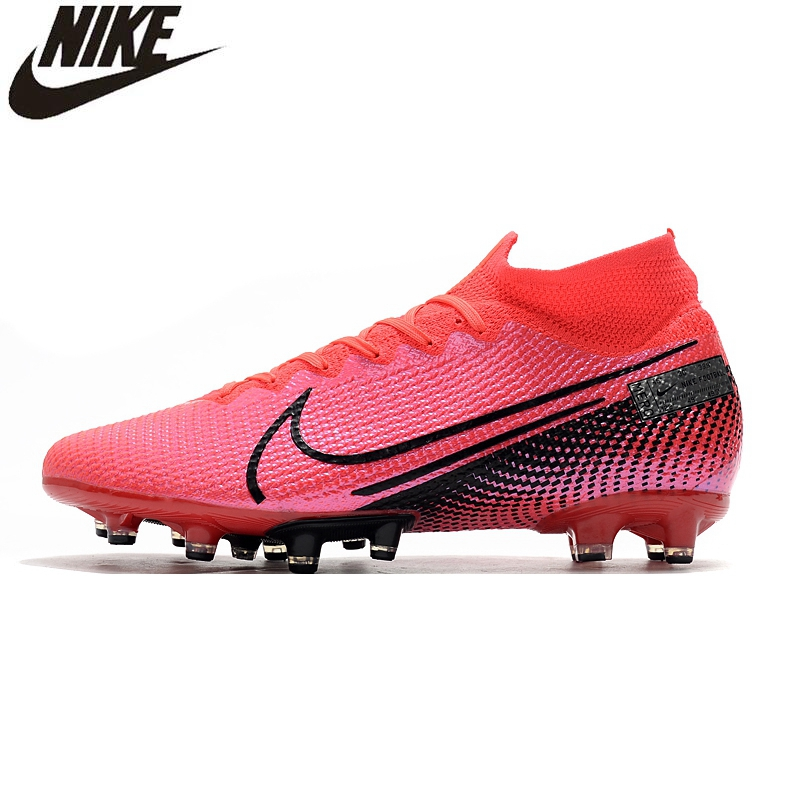 Nike Superfly 7 Elite SE AG Flyknit <font><b>360</b></font> Mercurial Superfly Electroplated High Knitting Soccer <font><b>Shoes</b></font> Sneakers Men Football Boots image