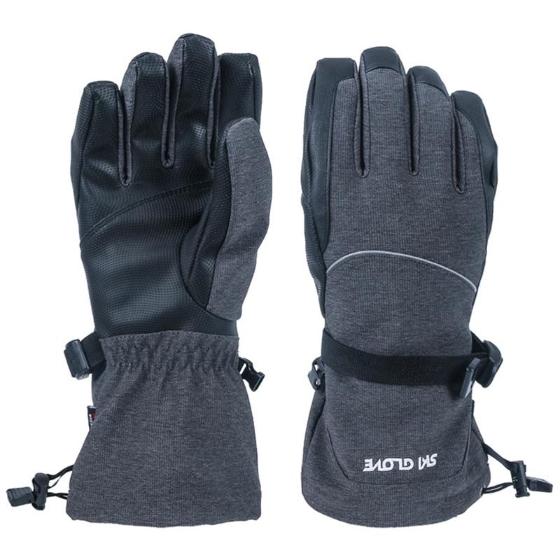 Ski Gloves Windproof Waterproof Press Screen Gloves Winter Sports Gloves Men Women M