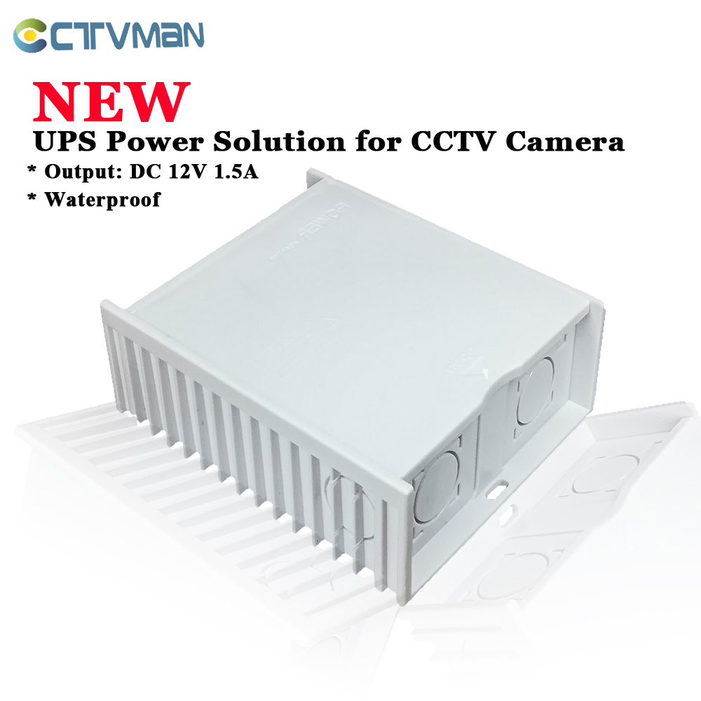 CTVMAN UPS Power Supply DC 12V Power Adapter Waterproof For CCTV Surveillance Camera IP AHD Camera Security Wifi Camera