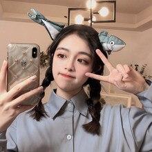 Coreia bonito engraçado rosto lavagem cabelo banda net celebridade spoof cenoura salgado peixe bandana vibrato com os mesmos acessórios de cabelo