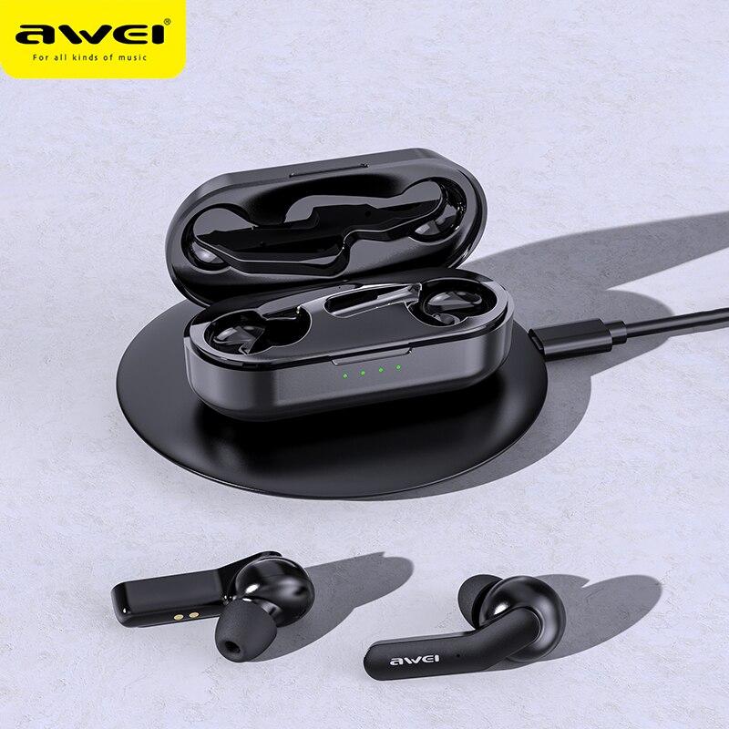 (Отправить из России) AWEI TWS Bluetooth V5.0 настоящие наушники Беспроводные зарядка шумоподавление HiFi 6D бас с микрофоном сенсорное управление игровые гарнитуры|Наушники и гарнитуры|   | АлиЭкспресс