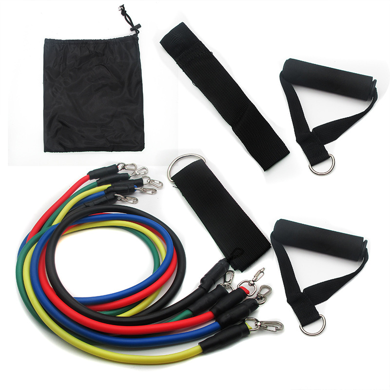 11 Pcs/ Set TPR Resistance Bands Elastic Bands for Fit Exercise Workout Fitness Rope Pull Up Chest Expander Strengthen Muscles