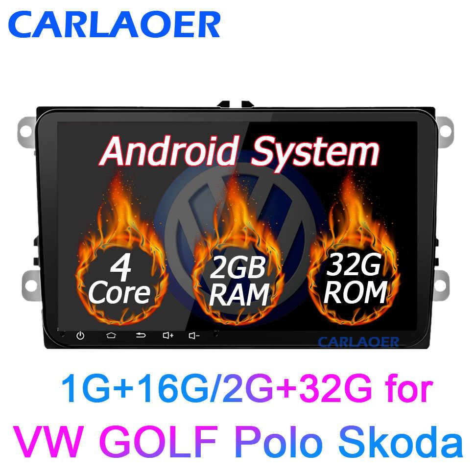 """新! 9 """"アンドロイド車の Gps ナビゲーションのための 2DIN フォルクスワーゲンゴルフ 5 ゴルフ 6 ポロパサート B5 B6 シートティグアン 2 ディンマルチメディアプレーヤー"""