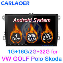 "New! 9"" Android Car GPS Navigation 2DIN for Volkswagen SKODA GOLF 5 Golf 6 POLO PASSAT B5 B6 Seat TIGUAN 2 DIN Multimedia player(China)"