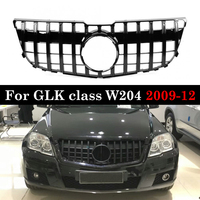 X204 GTR GT Grill Car Front Bumper Grill Grille For Mercedes For Benz GLK Class X204 GLK250 GLK300 GLK350 Pre facelift 2009 2012
