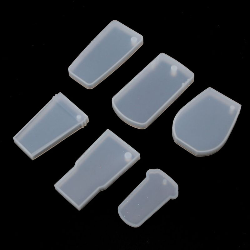 6Pcs Tumbler Silicone Mold Cup Turner Partner DIY Bottle Shape For Key Chain Perforated Resin Clay Mold Crafts Tools