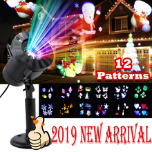 12 Patterns Halloween Christmas outdoor Waterproof LED Laser Projector Snowflake dj Disco Light For Home Decoration