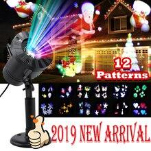 12 patronen Halloween Kerst outdoor Waterdichte LED Laser Projector Sneeuwvlok dj Disco Licht Voor Home Decoratie
