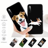 Jack Russell Terrier Hond Black Matte Mobiele Telefoon Cover Voor Samsung A51 A71 A50 A21 A20 A20E A31 A30 A40 a70 A01 A10 A11 A30S Case