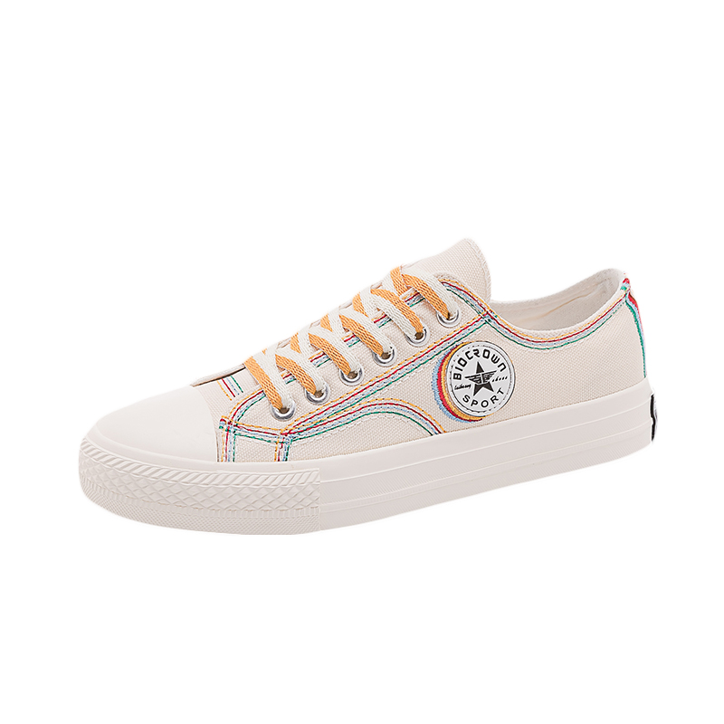 High-Top Canvas Shoes Women Ulzzang All-match 2020 Summer Ins Fashion Sneakers Retro Casual Shoes Girls Gumshoe Beige Black Low