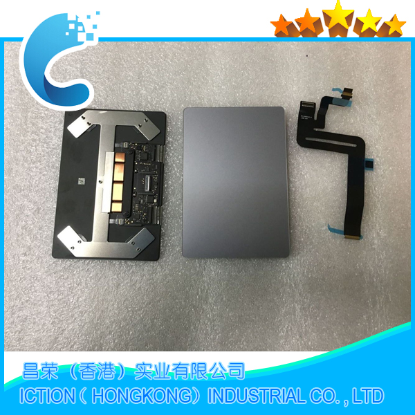 Orijinal yeni uzay gri renk A1932 Touchpad Trackpad Macbook hava 13.3 ''A1932 için kablo ile Touchpad Trackpad 2018 yıl