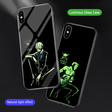 ciciber One Piece Cover Case For iPhone X Xs Max XR 7 8 6 6s Plus Phone cases Luminous Tempered Glass Coque Shell Fundas Capa
