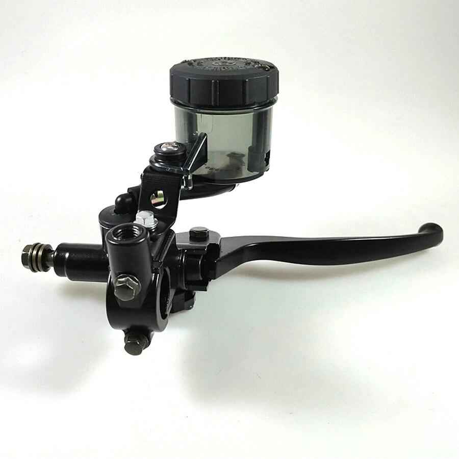 CNC Black Universal Motorcycle Right Brake Clutch Levers Master Cylinder Pump 22MM Motorbike Handlebar Parts For Suzuki Kawasaki