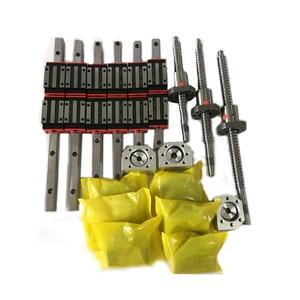 Image 3 - Free shipping linear guide HGR15/HGR20/SBR16/SBR20+ball screw SFU1605/1610+Nema23 stepper motor kit+spindle kit for cnc router