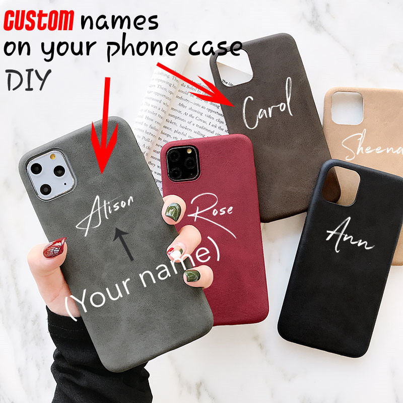 Custom Name/ <font><b>Logo</b></font>/ pictures on <font><b>cases</b></font> for <font><b>Iphone</b></font> 11 pro max <font><b>Case</b></font> Luxury <font><b>Leather</b></font> PU Soft Cover for <font><b>iphone</b></font> XS Max/XR/XS 6/7/8Plus image