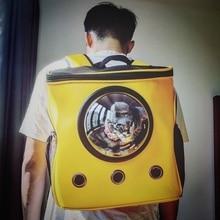 Dog Backpack Transparent Space Capsule Shoulder Bag Pet Outside Travel Portable Carry Kandang Kucing Backpacks