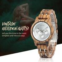 BOBO BIRD Simple Wood Women Watches reloj mujer Miyota Quartz Movement Ladies Clock Custom Wristwatch Gift with Wooden Box B P18
