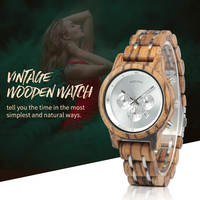 BOBO BIRD Simple Wood Women Watches reloj mujer Miyota Quartz Movement Ladies Clock Custom Wristwatch Gift with Wooden Box B P18