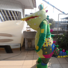 crocodile  mascot funny costume Halloween cartoon set