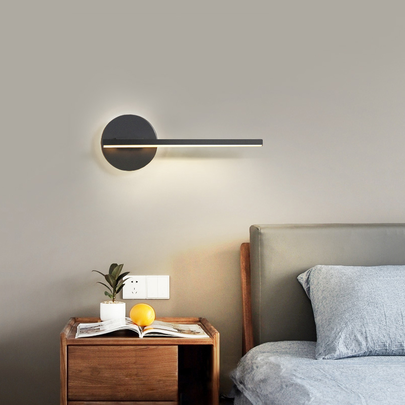LED Wall Lamp Black/White Bedside Light Creative Wall Lamp For Corridor Aisle Modern Wall Sconce Lamp For Bedside