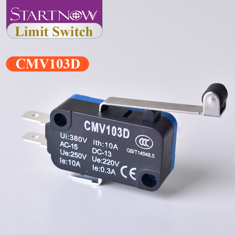 Momentary Micro Limit Switch CMV103D UE220V 0.3A With Long Handle Open Limit Sensor For CO2 Laser Engraving Cutting CNC Machine
