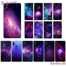 Babaite Ungu Bintang Ruang Novelty Fundas Phone Case Cover untuk XiaoMi MI Redmi 5 Plus 6 Pro 6A 4X 7 7A 8 GO Mobile Cover(China)