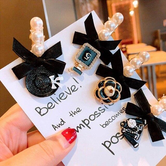искусственные жемчужные заколки для волос с бахромой винтажная фотография